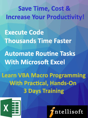 Advanced Excel VBA Programming - Analysistabs.com