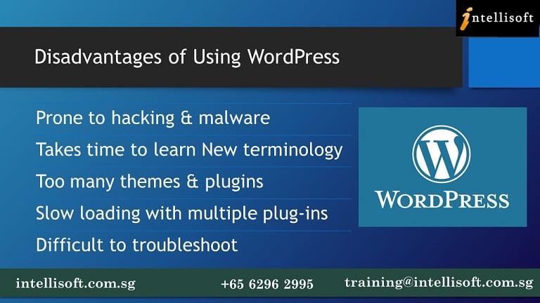 Disadvantages of  Using WordPress CMS