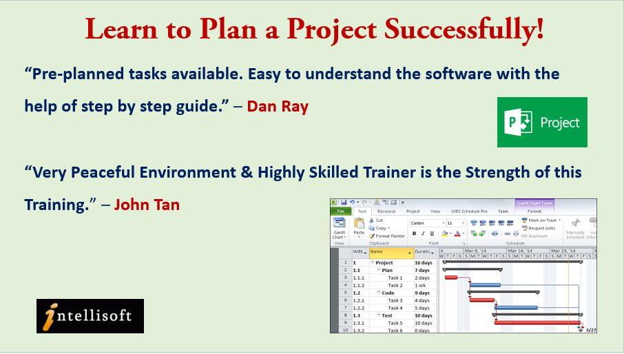 Microsoft Project training at Intellisoft