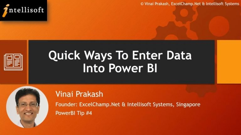 Learn to Enter Data in Power BI Fast with Intellisoft Singapore
