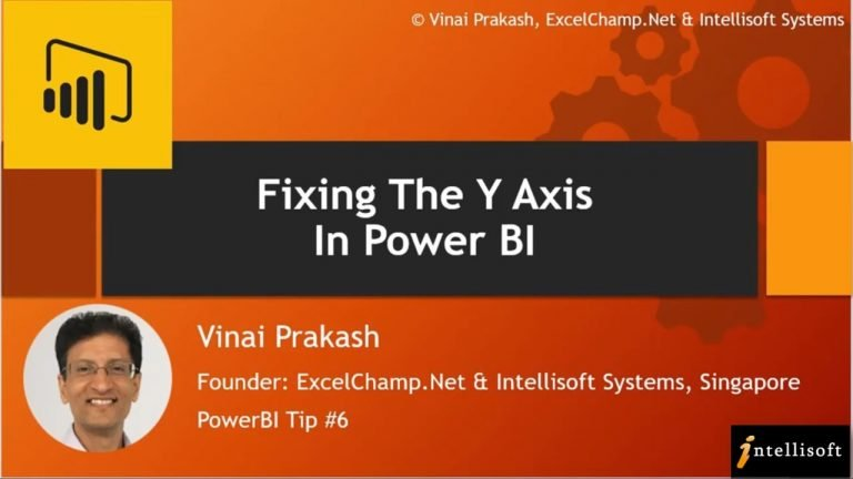 Learn to Find The Y-Axis in Power BI at Intellisoft Singapore