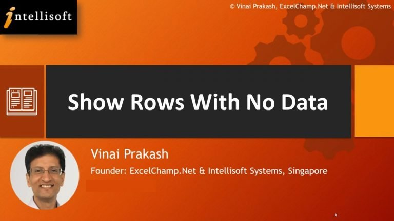 Learn to Show Rows with No Data at Intellisoft Singapore