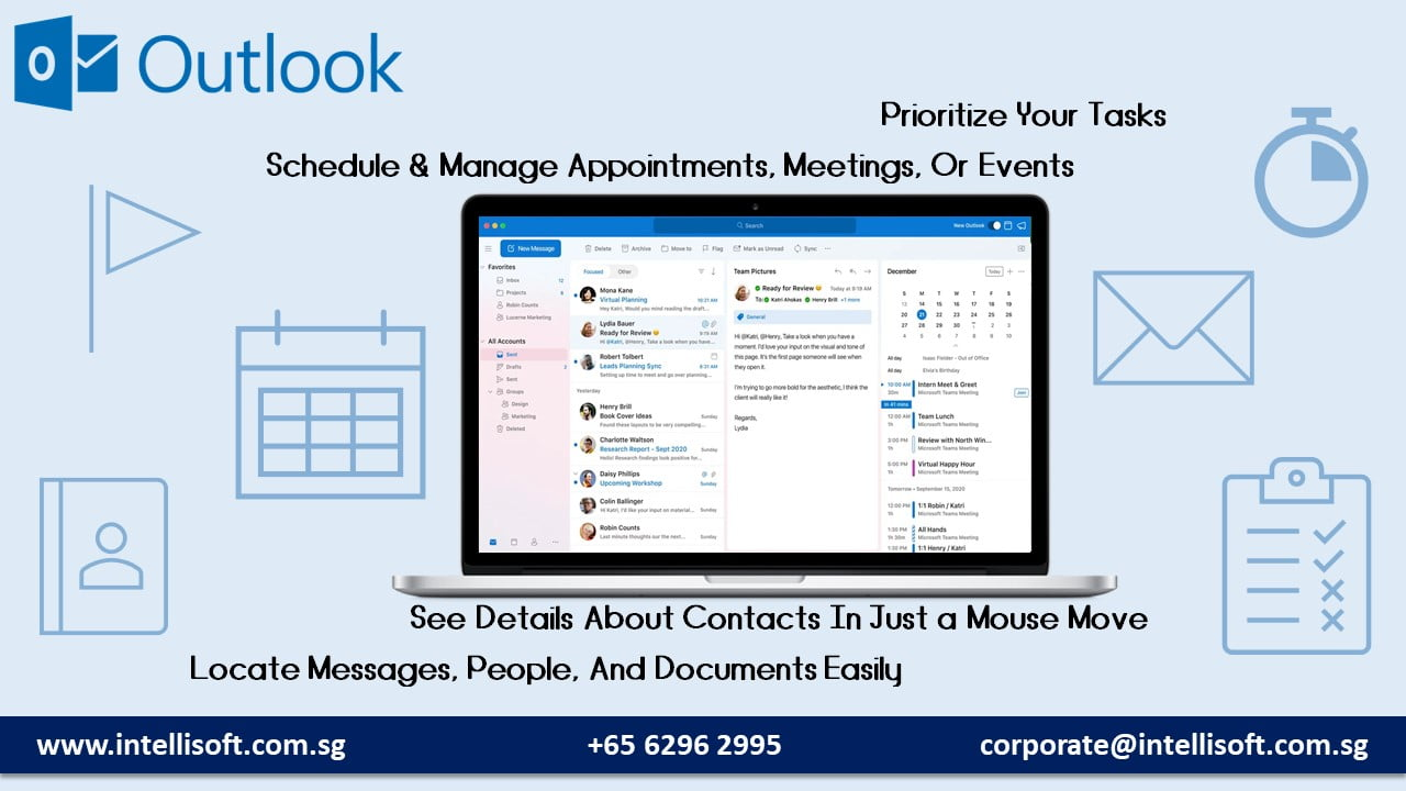 Get the Most Benefits of Microsoft Outlook With Intellisoft Singapore