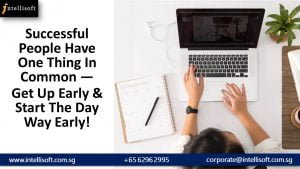 Start the Day Early. Manage Time effectively with a Training at Intellisoft