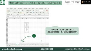 Duplicate sheet by drag and drop