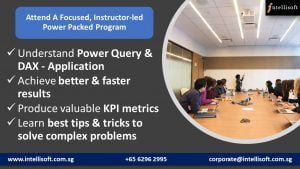 Focused Instructor Led Power BI Course in Singapore